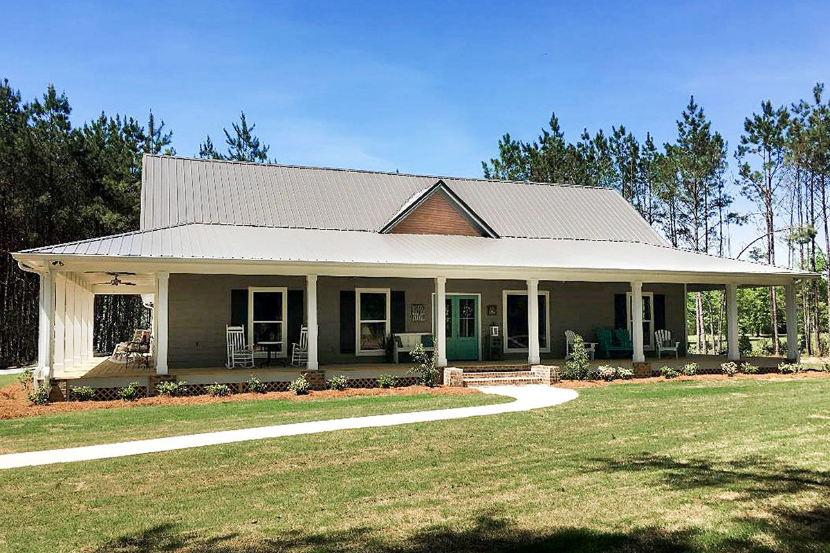 Plan 83918JW: Dreamy Country Cottage with Wrap-Around Porch #polebarnhomes