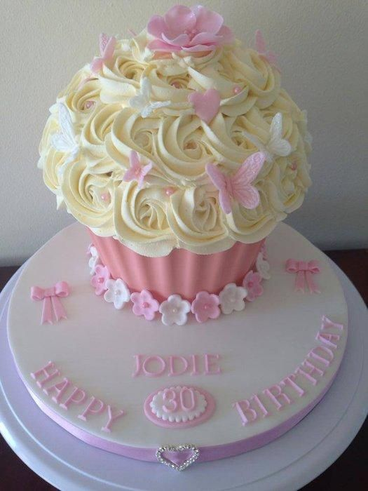 Pleasant Pretty Pink Giant Cupcake Cake By Sajocakes Giant Cupcake Personalised Birthday Cards Veneteletsinfo