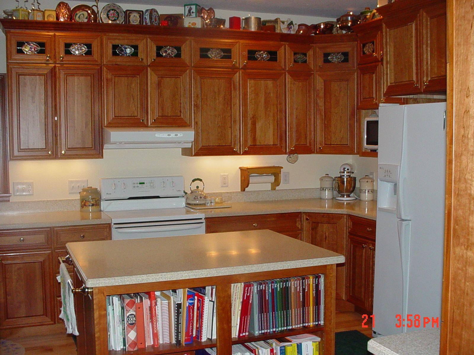 Bertch Custom Stacked Wall Cabinet Kitchen With Bookshelf Island Kitchen Cabinets Kitchen Remodel Kitchen