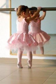 I'm totally sending my daughter to ballet school! Super cute!