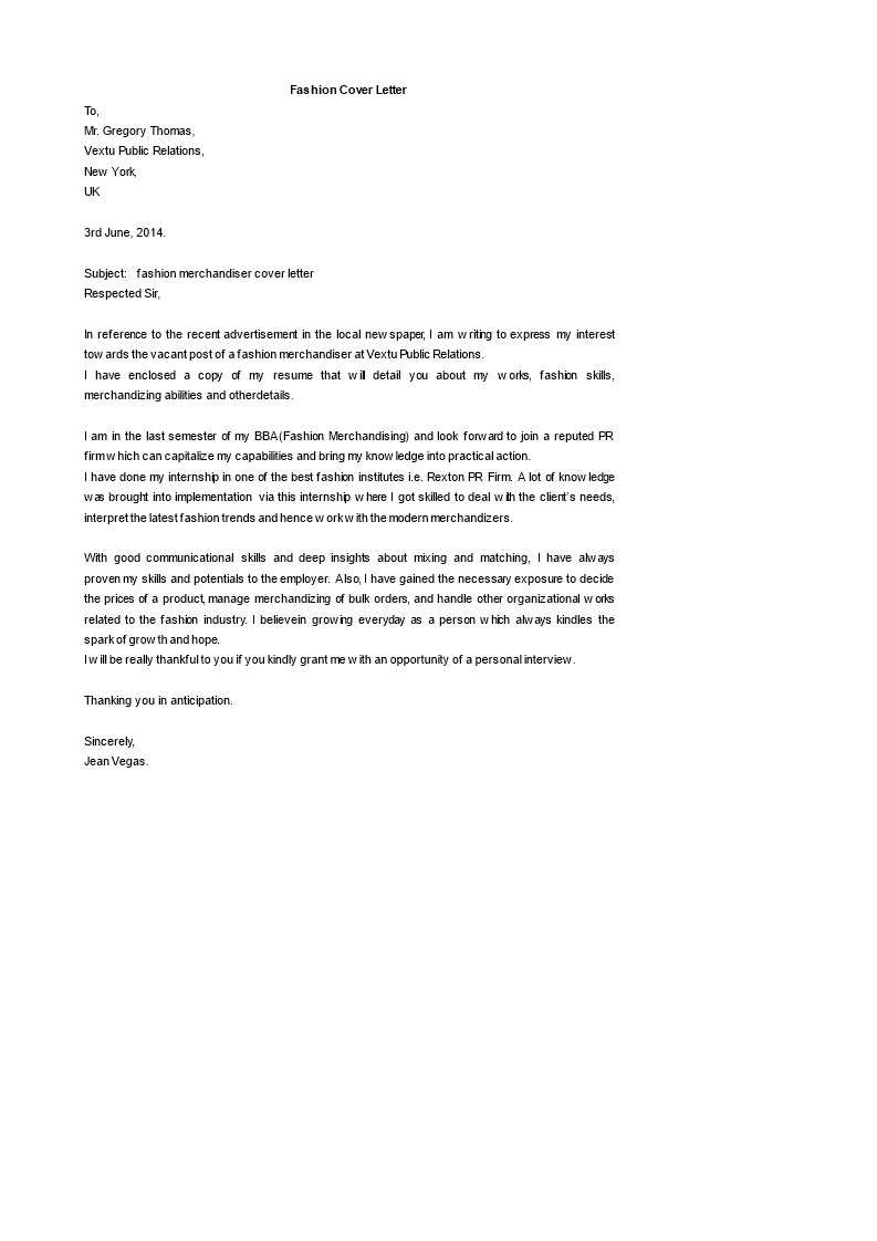 Fashion Merchandiser Cover Letter How To Write A Fashion Merchandiser Cover Letter Download This Fashion Mercha Cover Letter Template Cover Letter Lettering