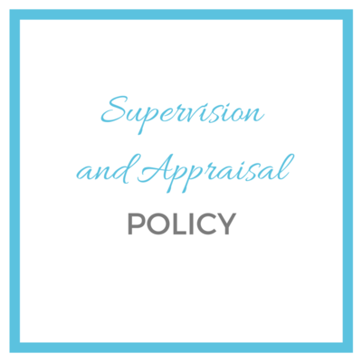 template supervision and appraisal policy