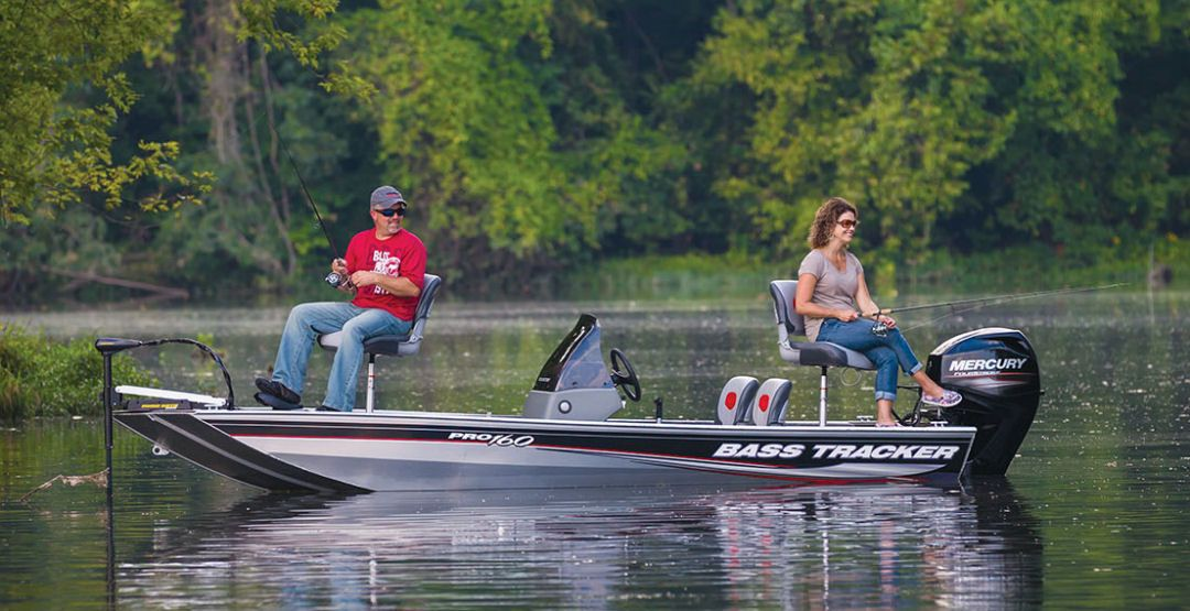 The pro 160 is the smallest boat in tracker 39 s bass for Bass pro fishing boats