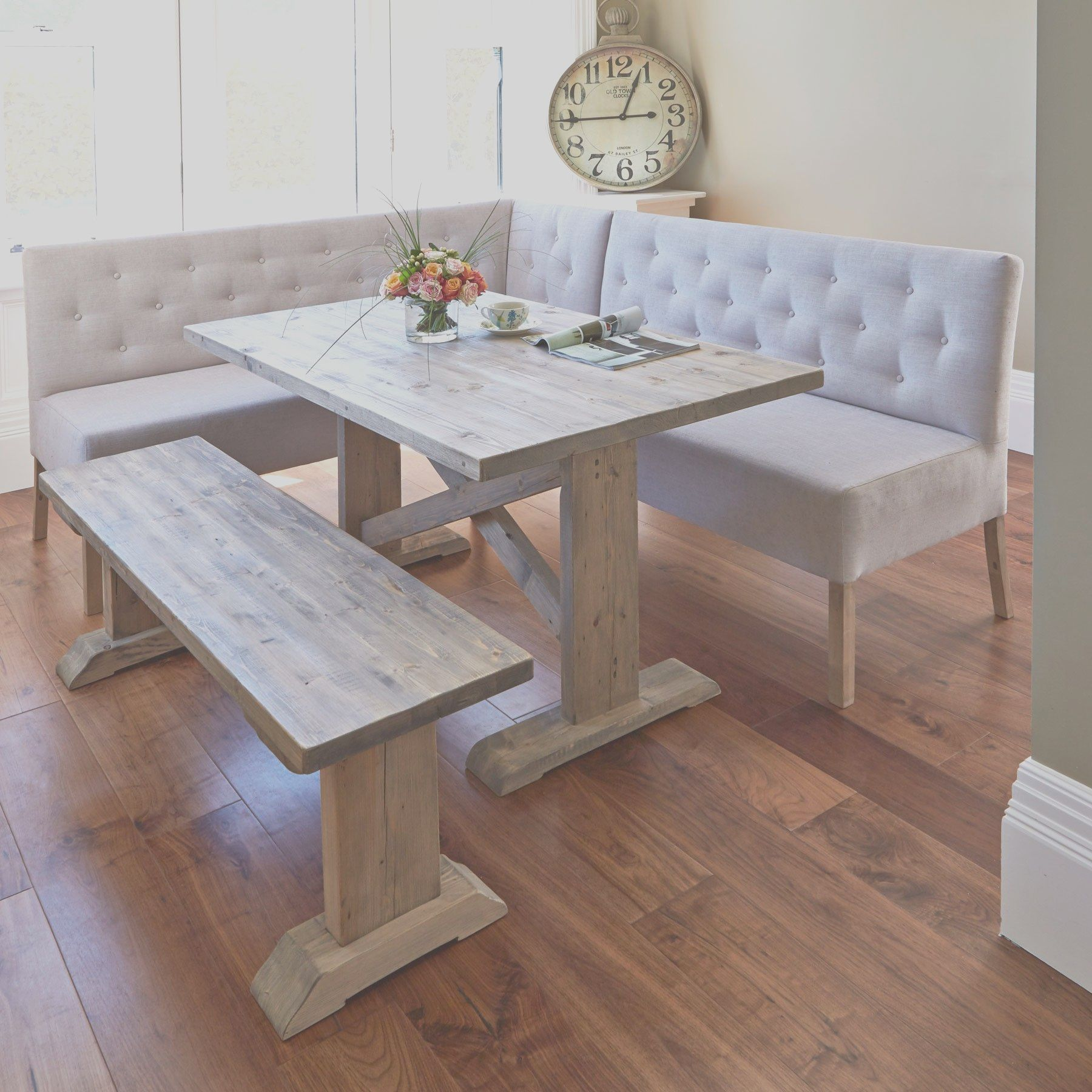 1099 Sale Alina 150cm Dining Table With Corner And In 2020 Corner Dining Table Dining Room Small Dining Table With Bench