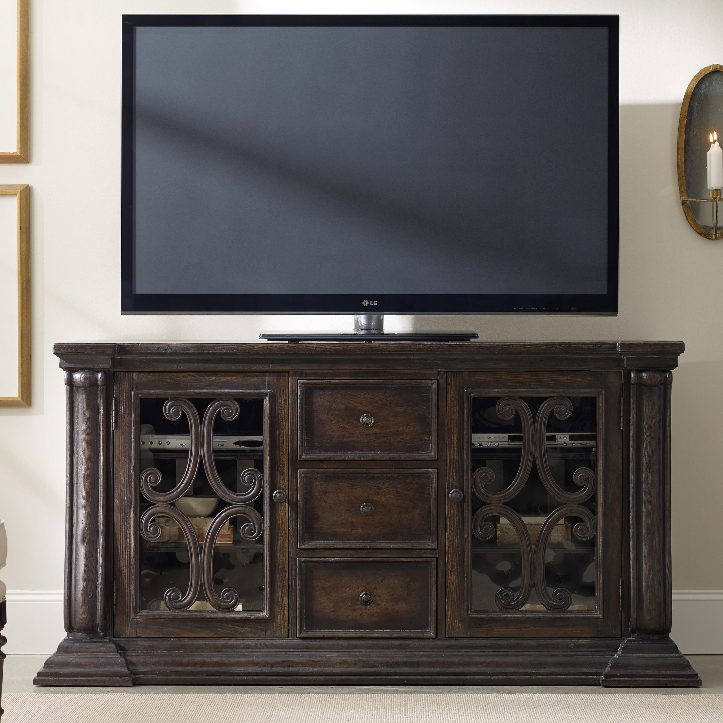 DaValle Entertainment Console By Hooker Furniture
