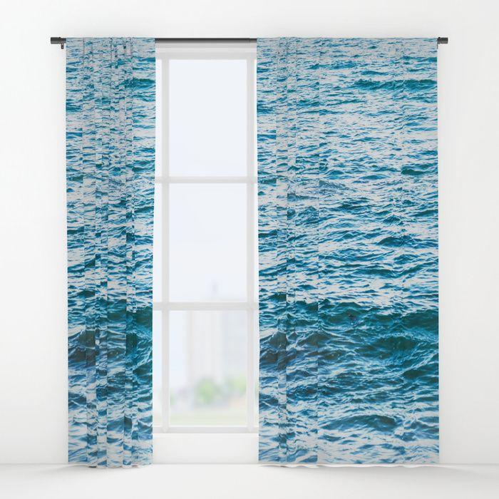 Light Blue Ocean Window Curtain Blackout Curtain Sheer Curtain