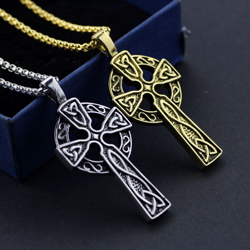 Christian gifts celtic christian jewelry alloy triquetra viking christian gifts celtic christian jewelry alloy triquetra viking triple horn of odin celtic cross male necklaces aloadofball Images