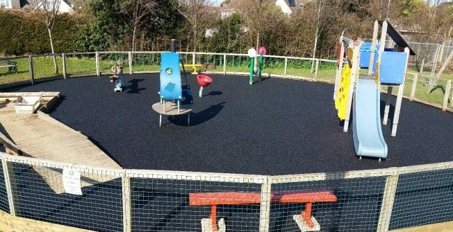 Rubber Play Area Flooring In Rosehill Play Area Rubber