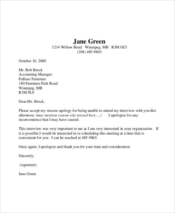 formal letter sample template free word pdf documents download - Formal Apology Letters