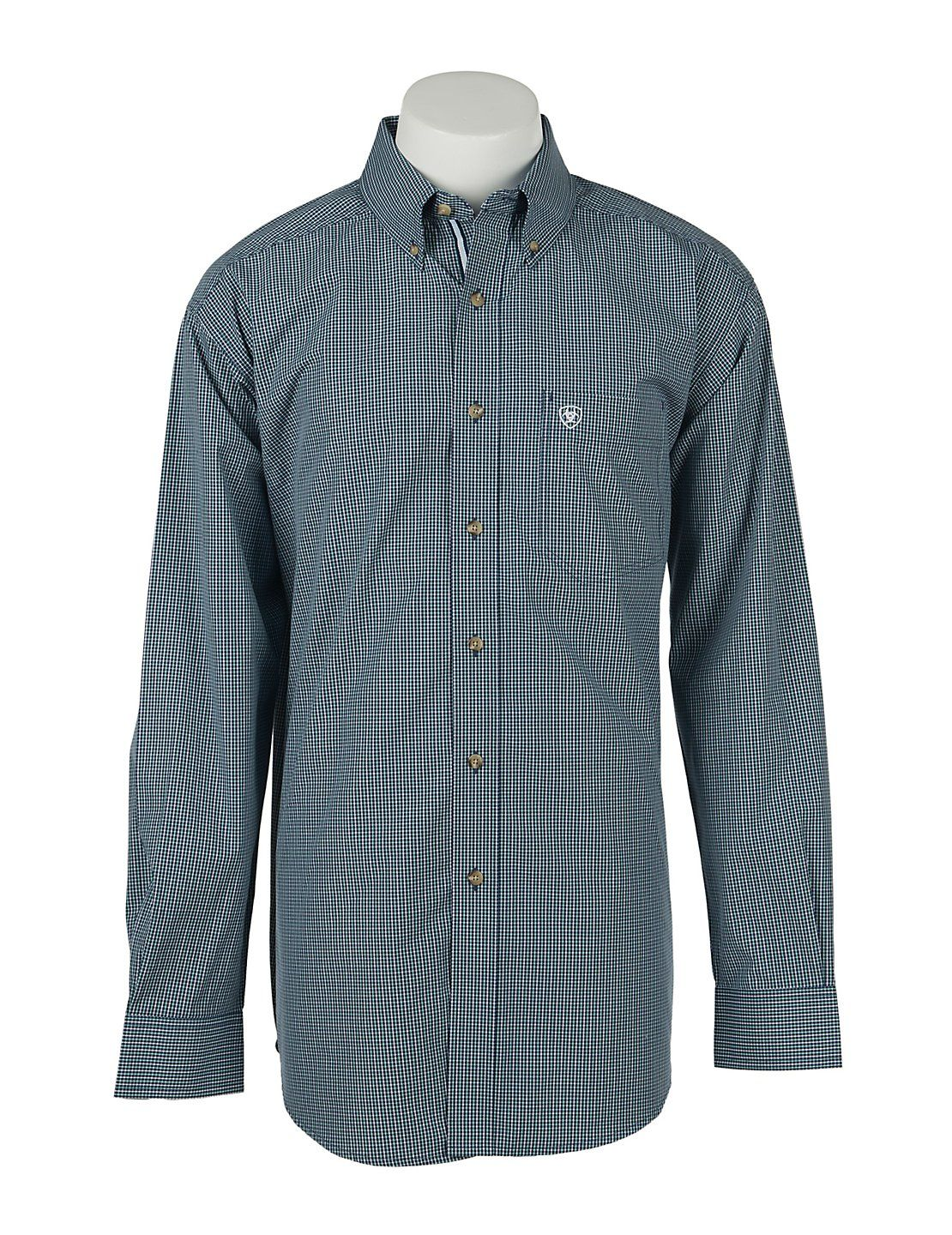 Ariat Mens Nocturnal Blue Grid Western Shirt | Cavender's