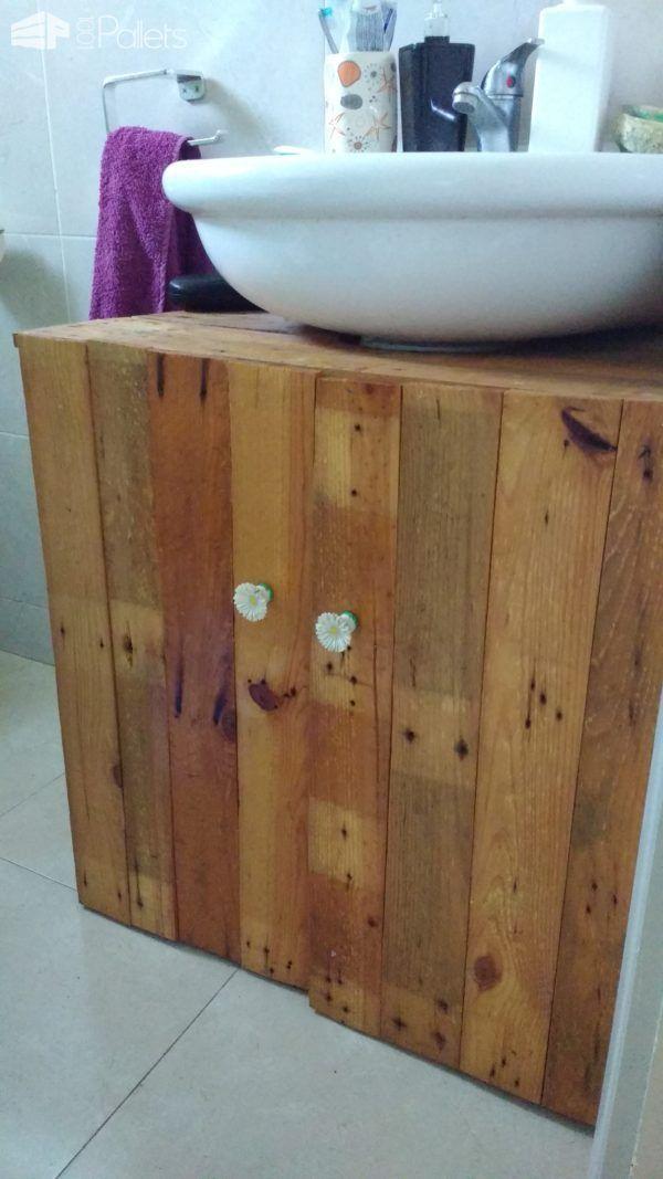 Mueble baño hecho con pallets | ECOIDEAS | Pinterest | Muebles baño ...