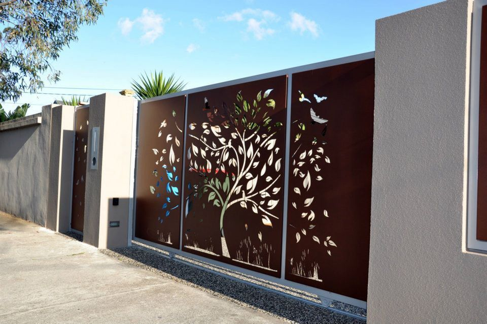 Laser cut gate | Gates | Gate design, Front gate design, Driveway gate