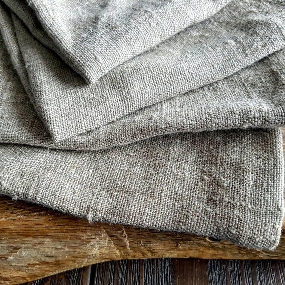 Rough Linen Body Towel Raw Flax Linen Bath Towel Stonewashed Linen