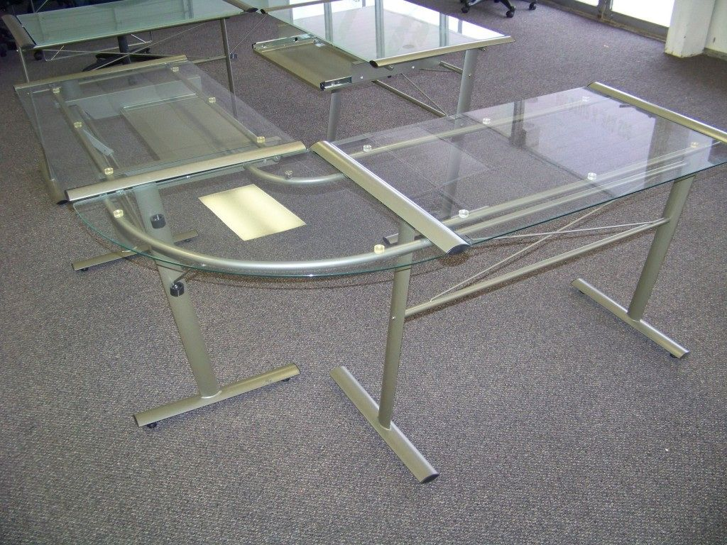 Glass l shaped office desk home office furniture ideas check more at http