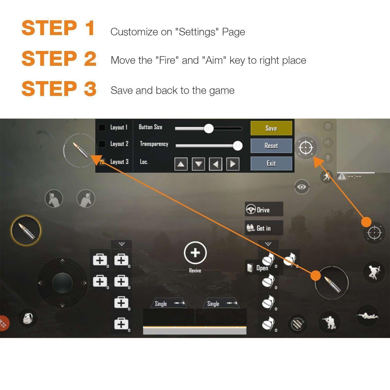 Mobile Game Controller [Upgrade Version] WeeDee Fortnite PUBG Mobile
