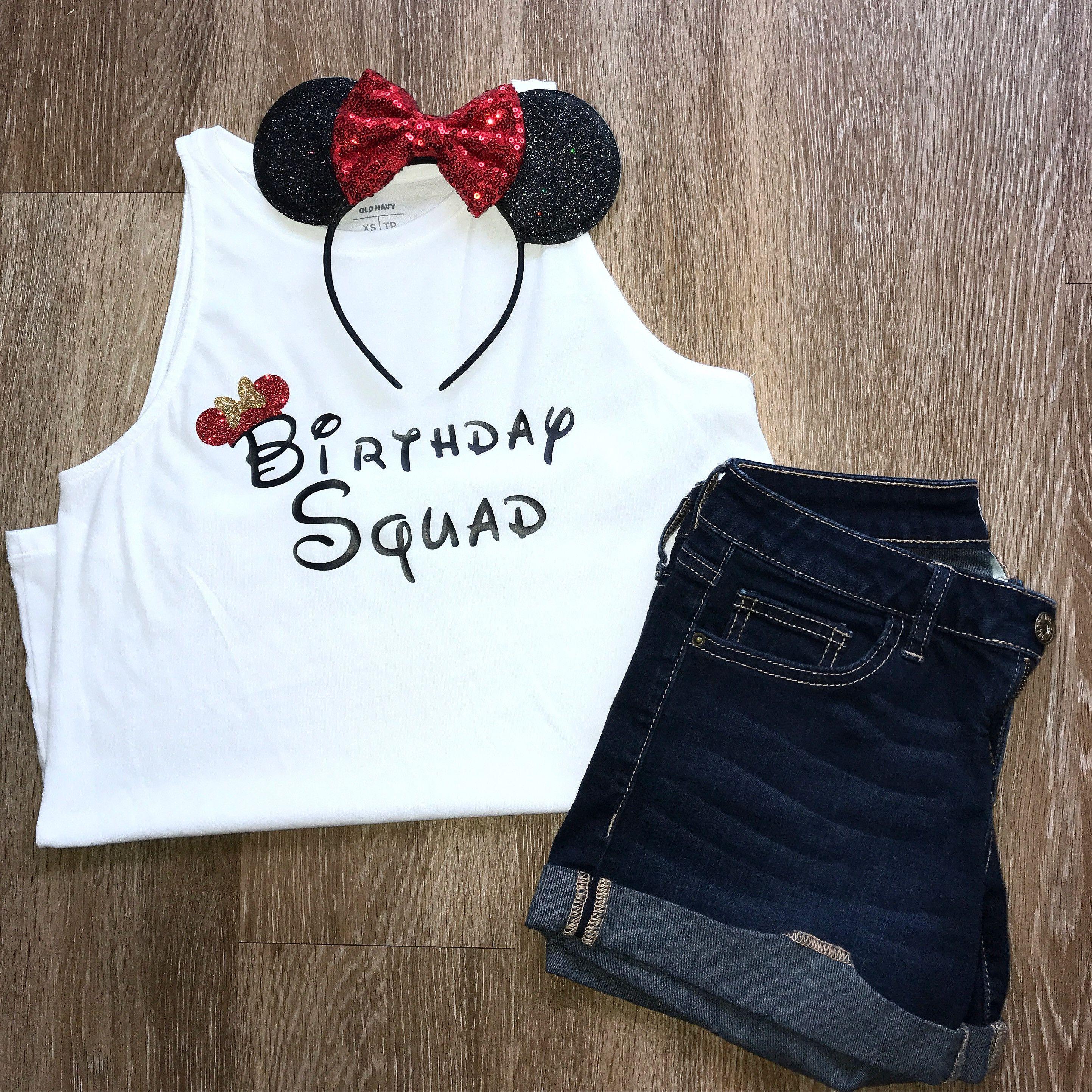 Disney Birthday Squad Shirt