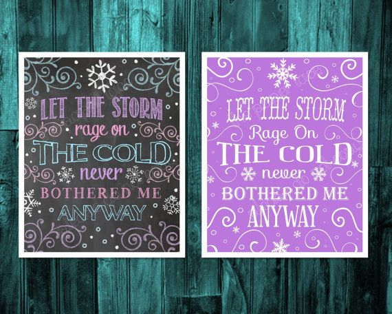 Frozen Wall Art Frozen party decor Frozen birthday by ThePaperLace