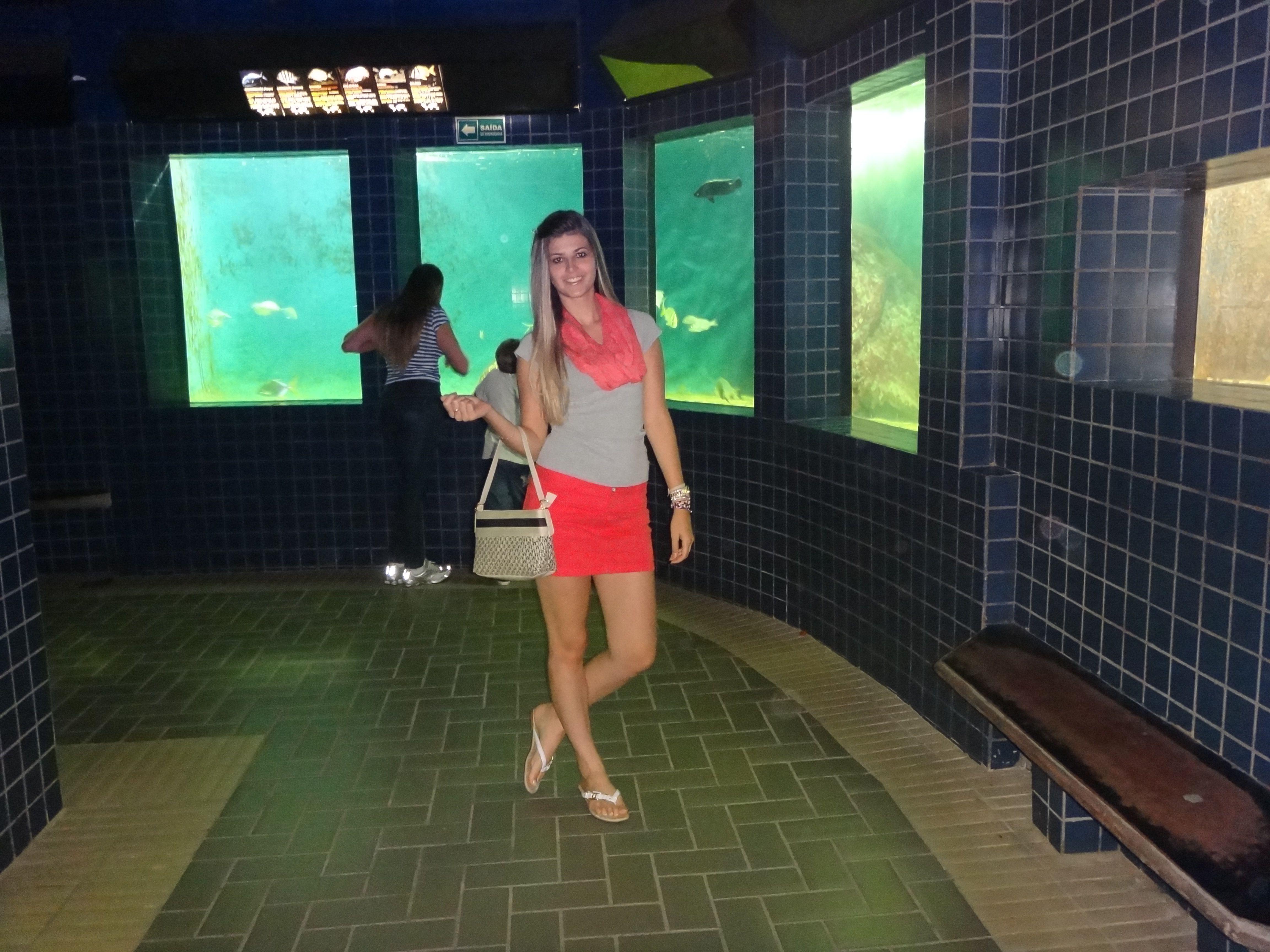 eu no aquario de santos