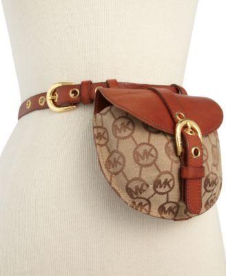 michael michael kors belt mk logo belt bag handbags accessories