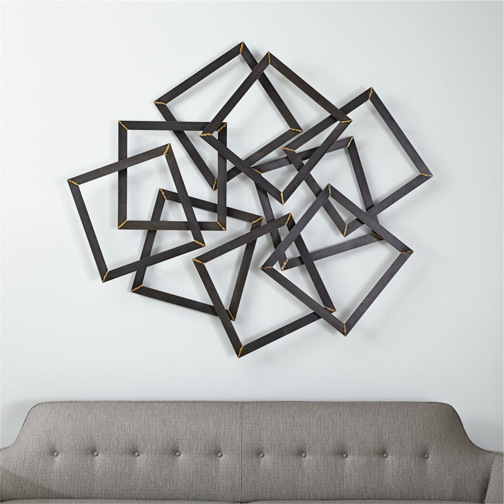 Crate And Barrel Wall Art Part - 13: Multi Squares Wall Art - Crate and Barrel