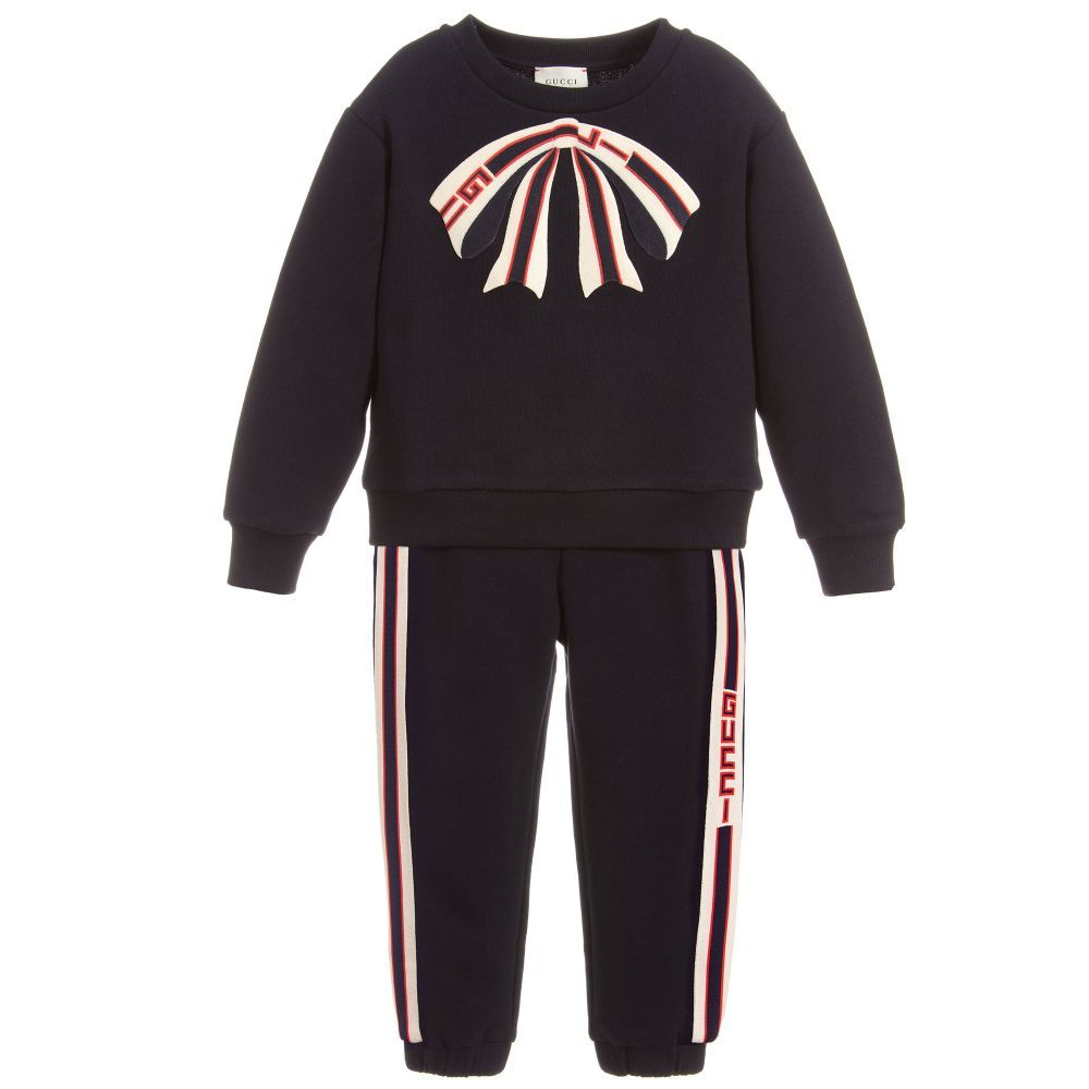 7981d24bfa07d Girls navy blue tracksuit by luxury brand Gucci