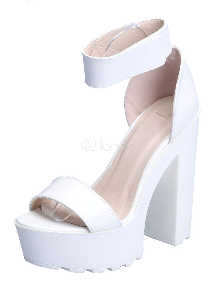 94071986d14 High Heel Sandals 2018 Platform Open Toe Ankle Strap Chunky Heel Sandal  Shoes For Women - Milanoo.com
