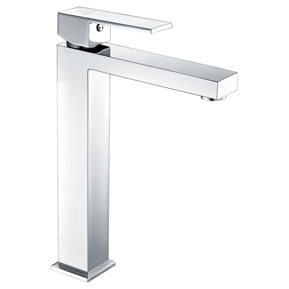 Photo of ANZZI Enti Single-handle Vessel Bathroom Faucet in Polished Chrome (Polished Chrome), Grey