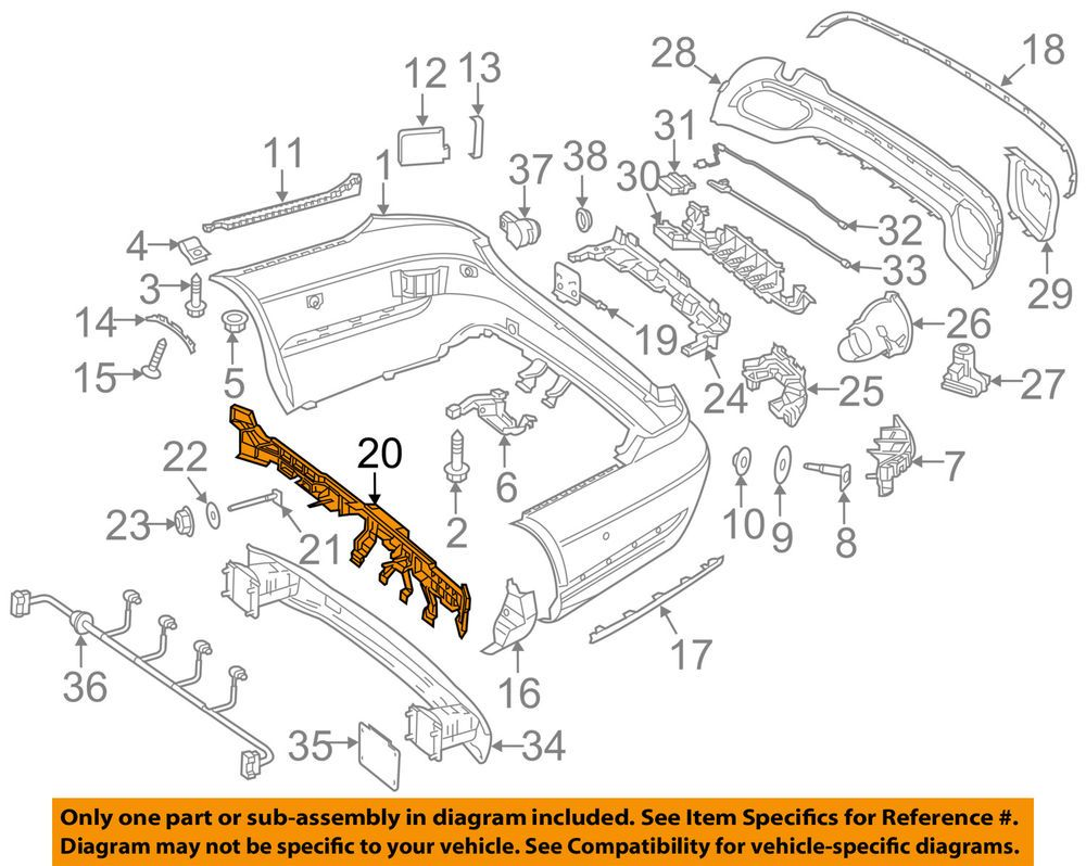 Mercedes Oem 14 16 E350 Rear Bumper Mount Panel 2128802603 Parts And Accessories Truck Parts Bumpers