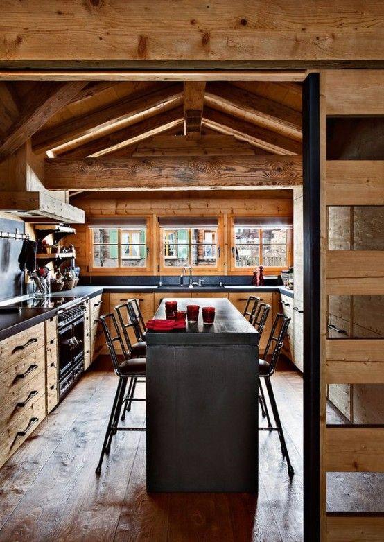 40 Cozy Chalet Kitchen Designs To Get Inspired Digsdigs Kitchen Design Plans Kitchen Design Decor Kitchen Design