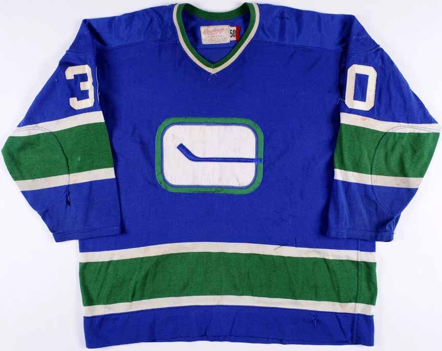 1974-75 Ken Lockett Vancouver Canucks Game Worn Jersey – Rookie ... 237ec5d44b6