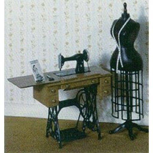 CHRYSNBON - 1 Inch Scale Dollhouse Miniature Sewing Room Furniture - F-200 Sewing Machine Kit (CB2108)