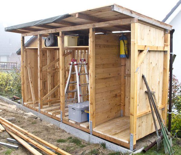 Bau eines Holzlagers vesab.de Holzhütte garten