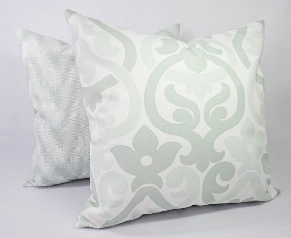 Remarkable Soft Green Pillow Covers Artichoke Green And White Throw Caraccident5 Cool Chair Designs And Ideas Caraccident5Info