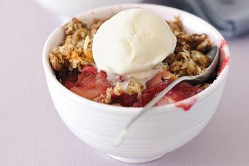 A crunchy rhubarb and apple crumble which will complement almost any winter meal.