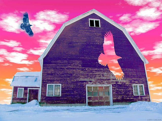 LARRY CARLSON, HAWK BARN MORNING, digital photography, 2006