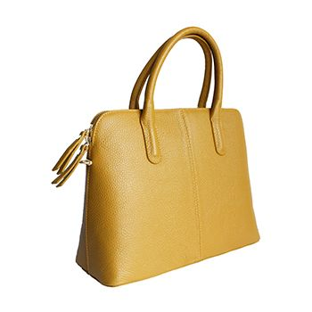 3c997d15fe Serafina Italian Yellow Leather Dome Handbag - £54.99