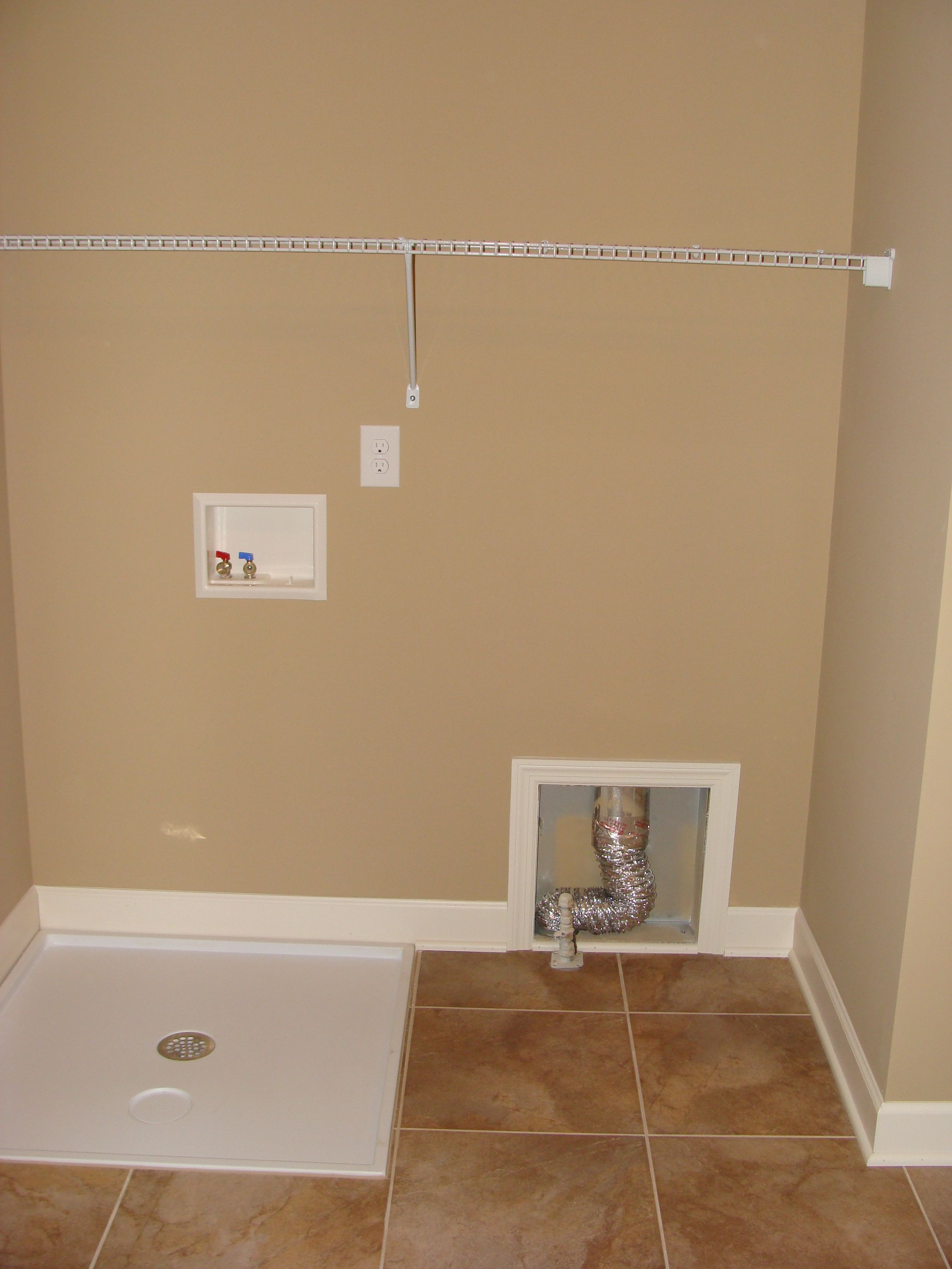 upstairs laundry room floor drain