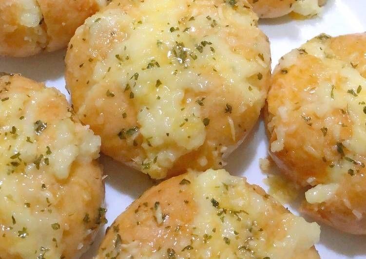 Resep Rahasia Korean Garlic Bread Resep Roti Garlic Roti Cheddar