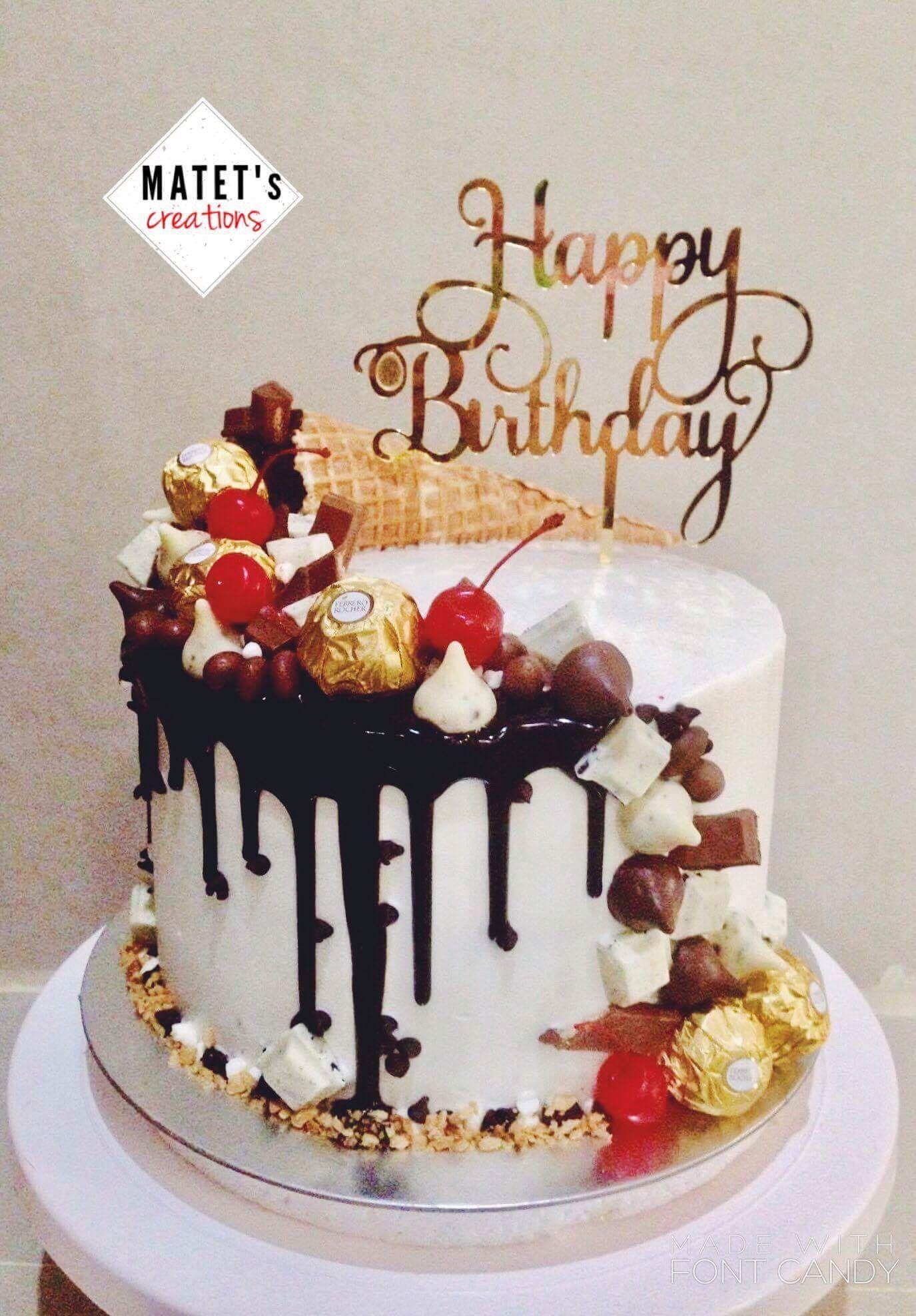 Chocomoist Drip Cake Cake Drip Cakes Happy Birthday Messages