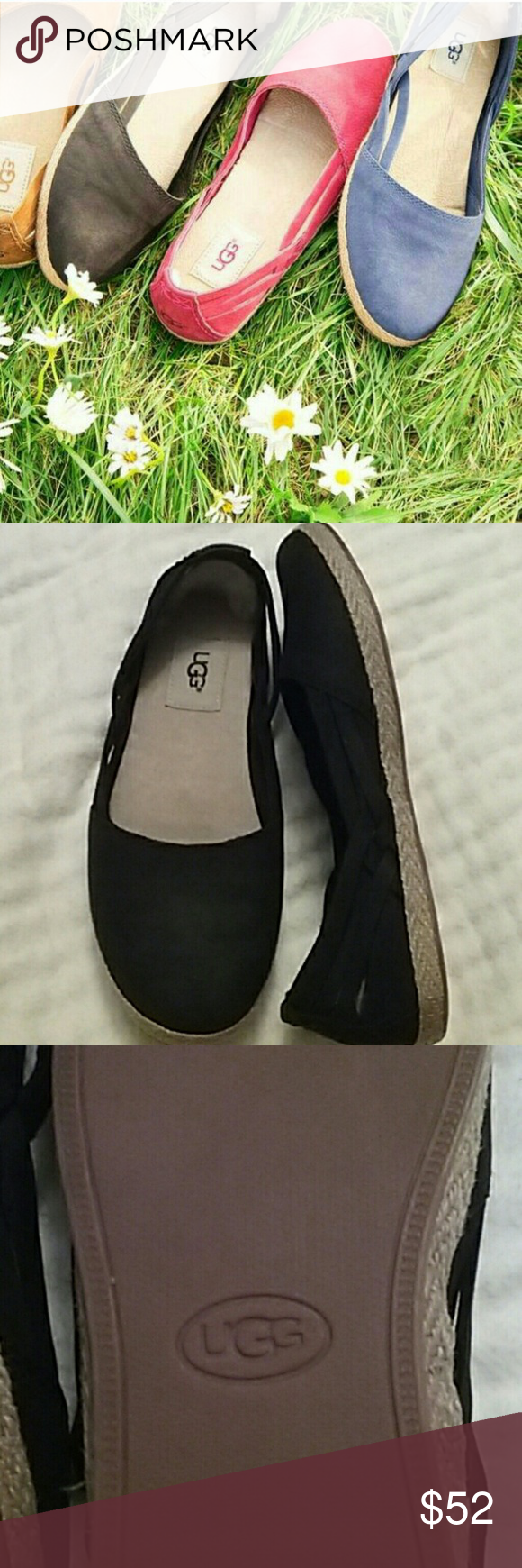 121e49d3dbe UGG SUMMER SHOES DARLING BLACK FLAT SHOES FOR SUMMER. MOST ...