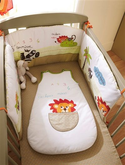 tour de lit brodé bébé thème l as tu vu Tour de lit brodé bébé thème l'as tu vu? MULTICOLORE   vertbaudet  tour de lit brodé bébé thème l as tu vu