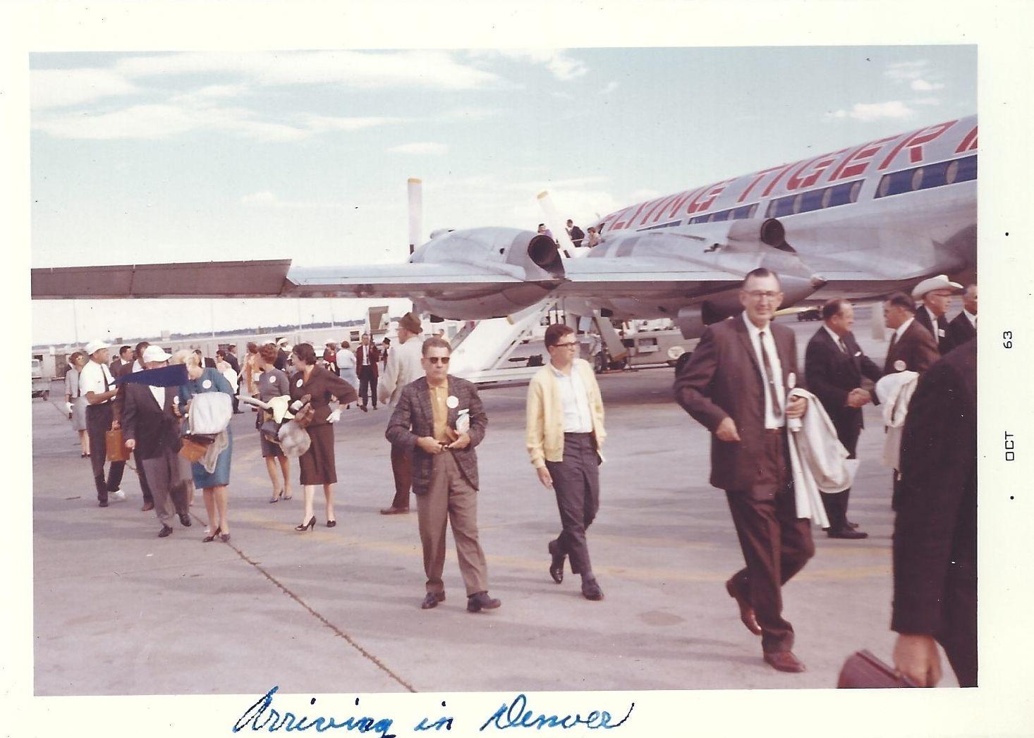 Bristol Britannia Canadair Cl 44 In Denver Colorado 1963