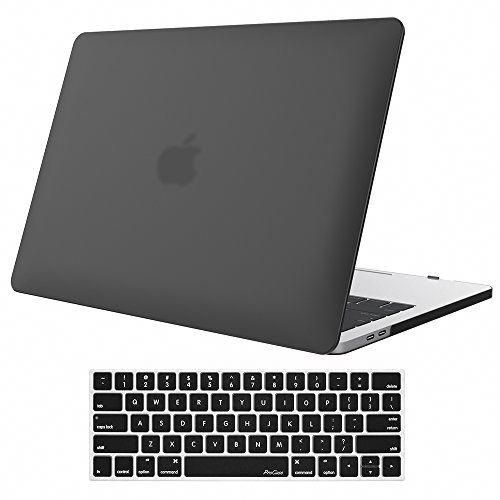 """Frosted Black Hard PC Matte Case Cover for MacBook Pro Air 13/""""15/"""" 2018//2017//2016"""