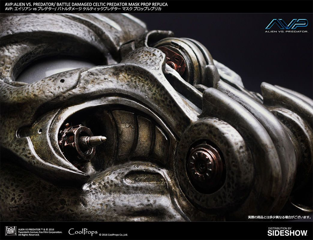 Alien VS Predator Battle Damaged Celtic Predator Mask Prop R ...