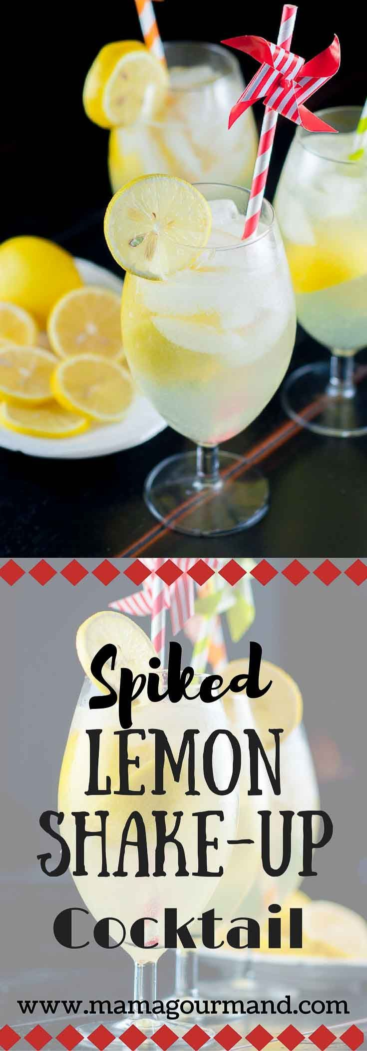 Spiked Lemon Shake-Up Cocktail is your classic vodka lemonade drink brought to the next level. It's quick, easy, and has that fresh lemon shake-up taste.