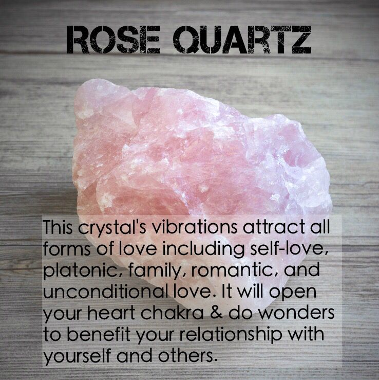 Rose Quartz. Attracts all forms of love. www.xo