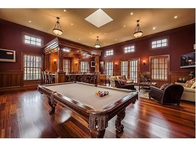 Way Cool Bar, Very Nice Pool Table (love The Tan Felt) And Sitting Area. I  Think We Must Have This Room In Our Next Home!