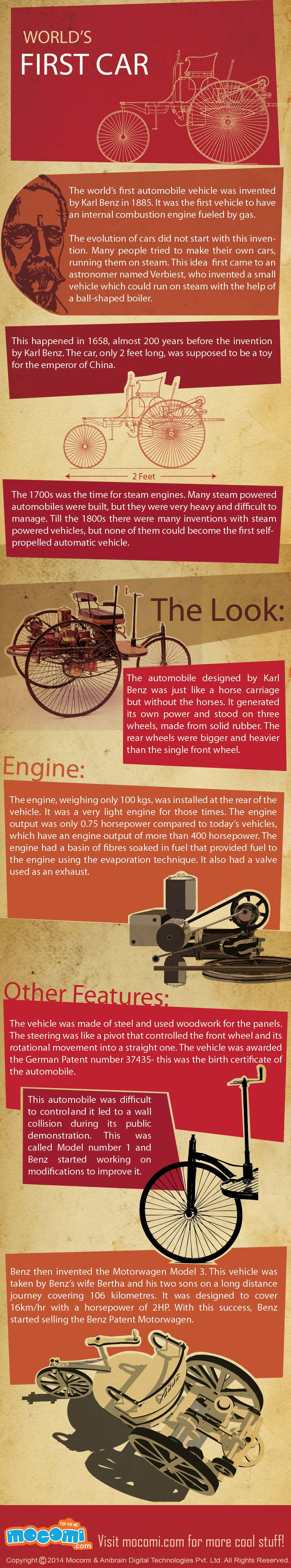 First Car in the World - General Knowledge for Kids | Combustion engine