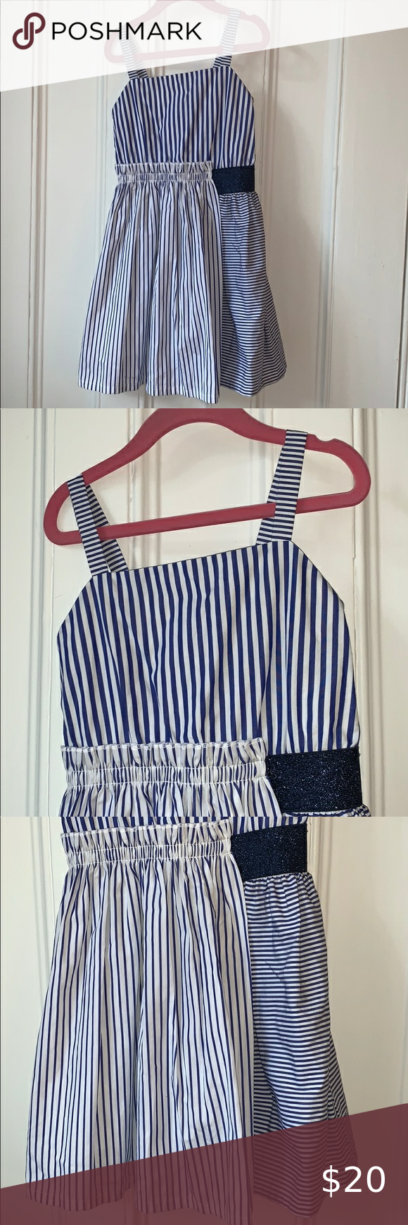Adorable Striped Dress With Waist Ruffle Detail Striped Dress Striped Casual Dresses [ 1740 x 580 Pixel ]