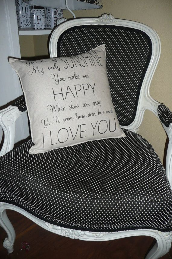 You Are My Sunshine Pillow Cover van chateauthreefork op Etsy